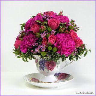 Artistry in Bloom's Blog: May 2012 - teacup floral arrangement