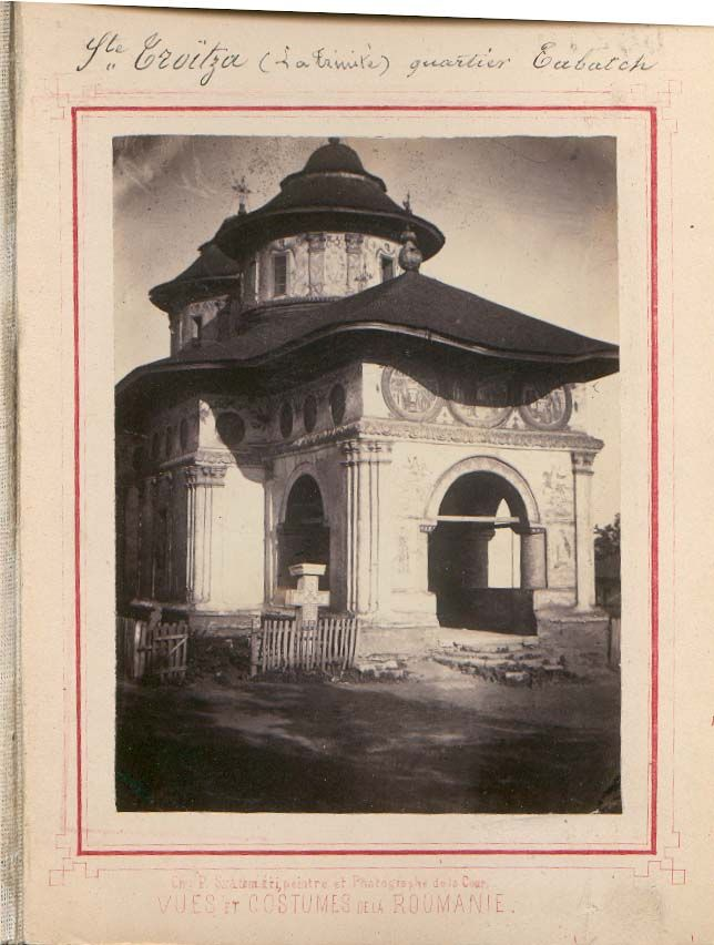 Carol Popp de Szathmari, Souvenir de la Roumanie dedié a son A.S. Helene (1863): S-te Troitza (La Trinité) quartier Tabatch (bis. Sf. Treime Tabacu). BAR AF I 87, nr. 66267-66321.   indexat.