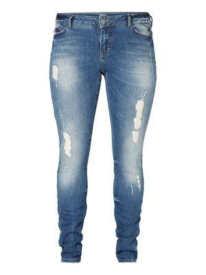 Cool destroyed jeans from JUNAROSE. #junarose #jeans #cool #raw #denim #plussize #fashion