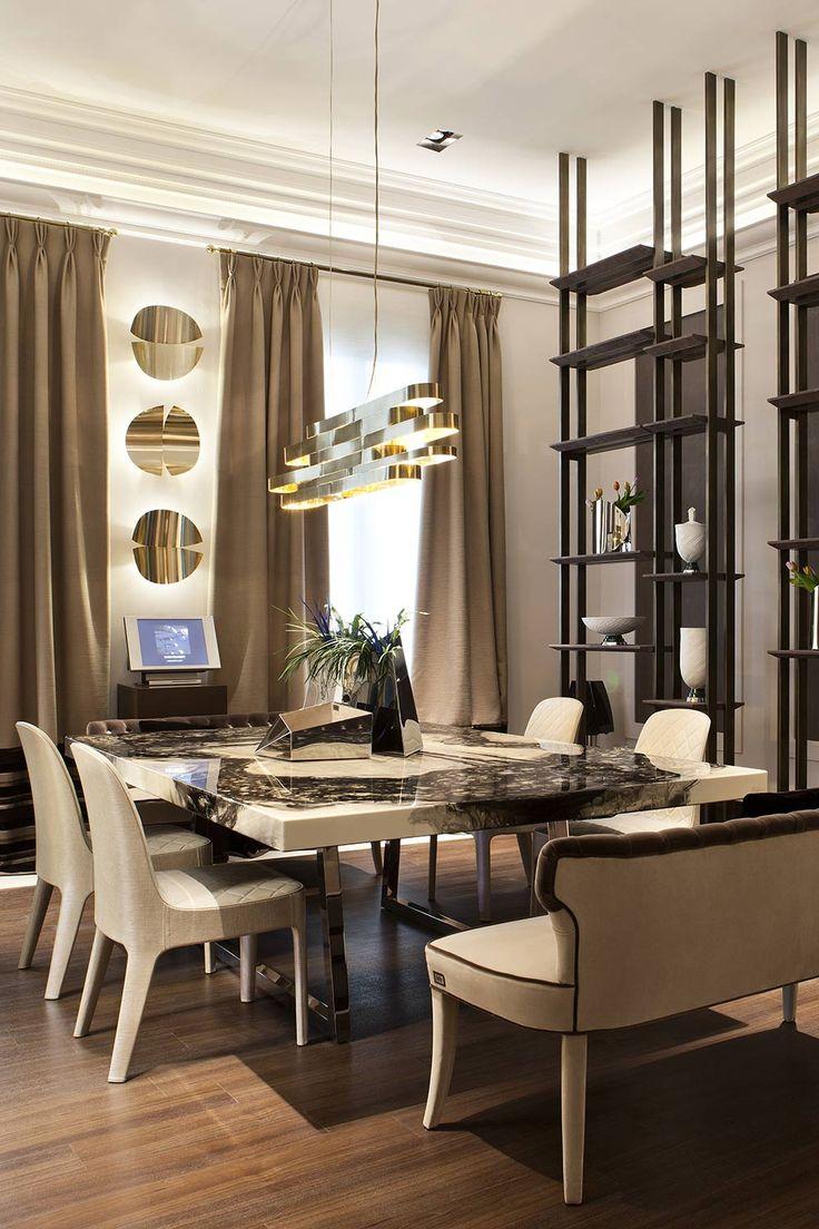 El comedor privado estaba protagonizado por una mesa de madera pintada con acabado en resina, lo que le da un aspecto pétreo muy interesante. #details #diningroom #homedecor #design #decor #interiordesign #interiorismo #decoracion #diseño