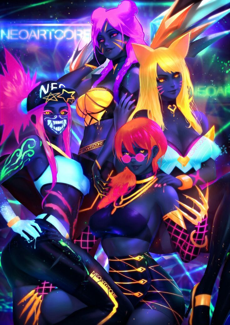Kda League Of Legends Von Neoartcore Kda League Legends