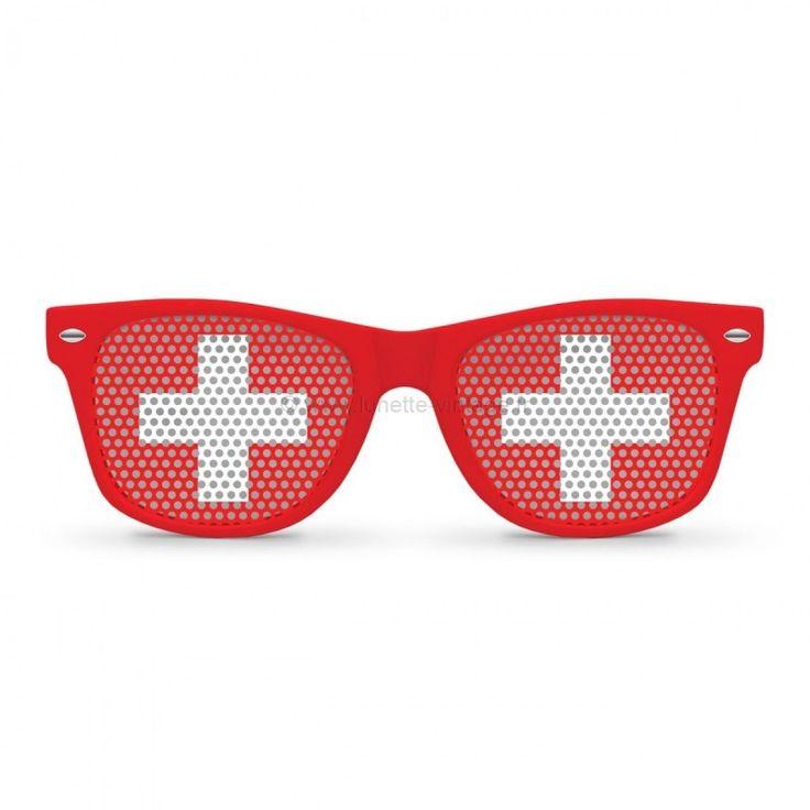 Lunettes drapeau suisse  POPART