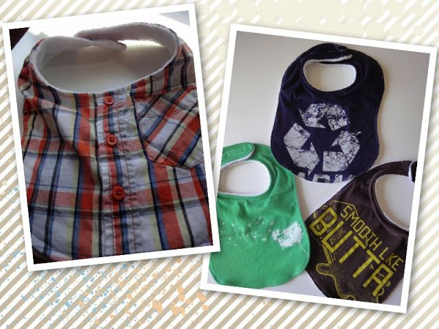 #DIY Bibs with old t-shirts