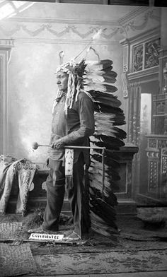 Sitting Bull Wearing War Bonnet  1885