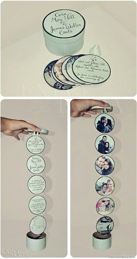 Idea para las invitaciones a la boda una idea original para incluir diferentes fotos de la pareja