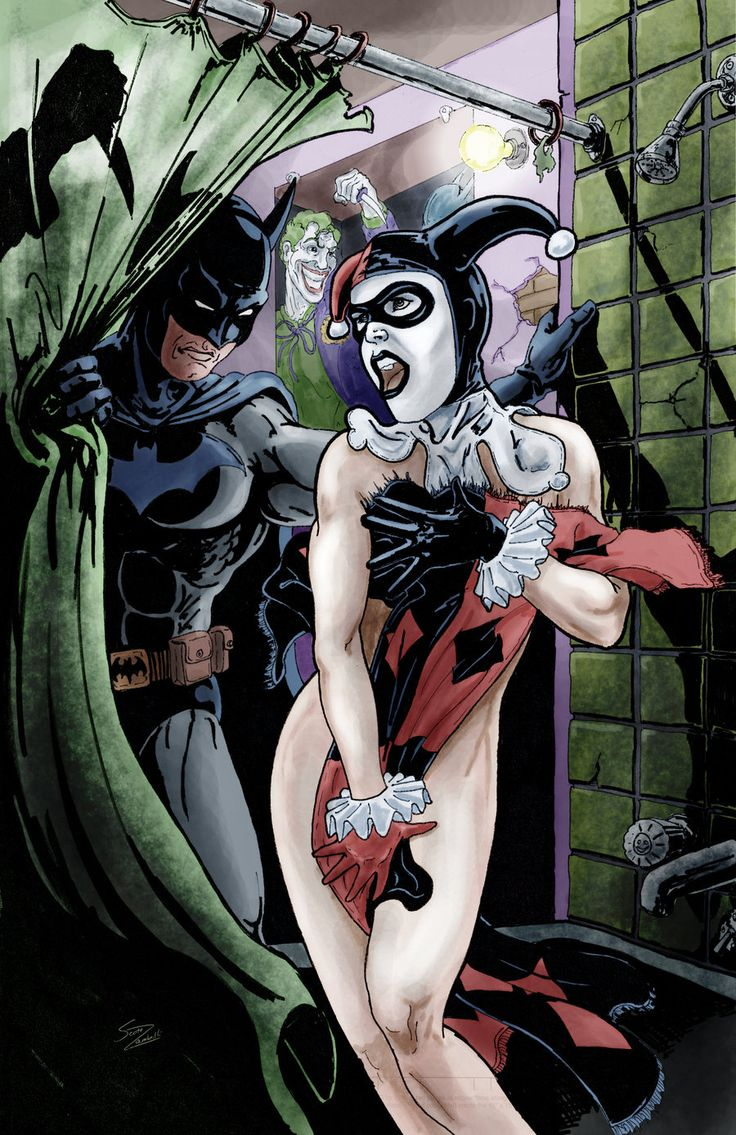 """A Tribute to Psycho"" by Scott Zambelli... Harley Quinn, Batman"