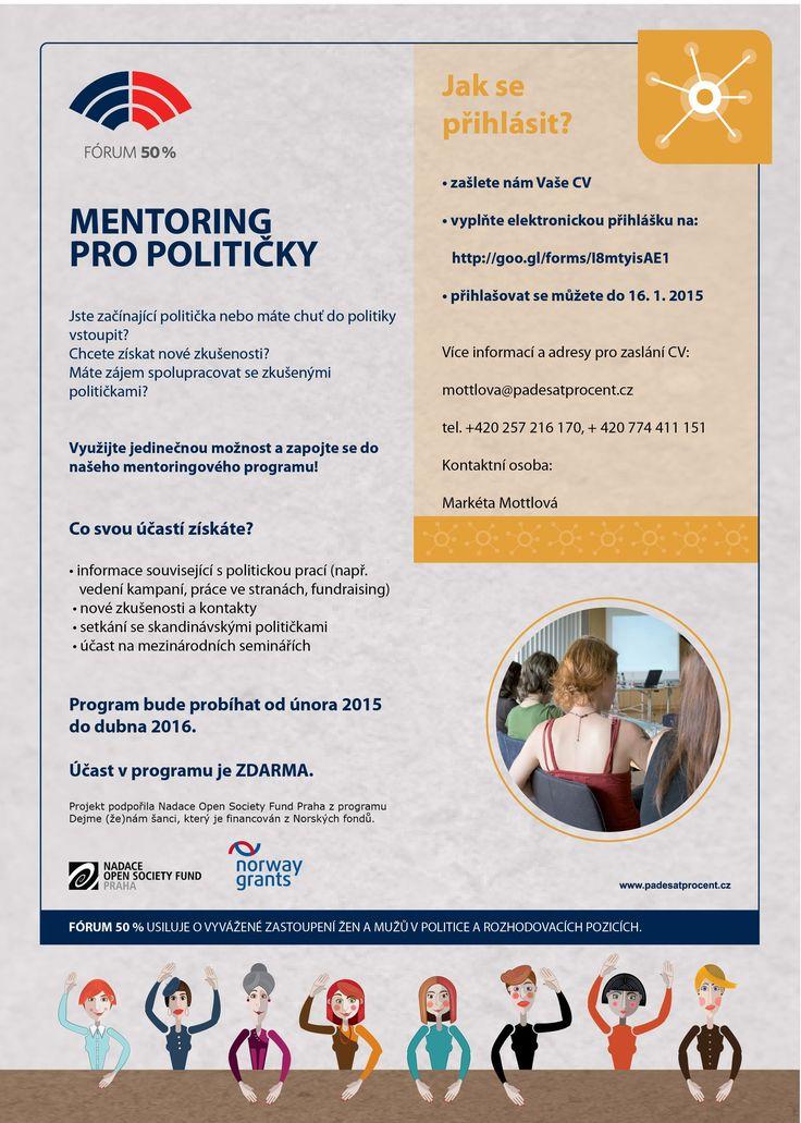 Mentoring pro začínající političky - Forum 50%