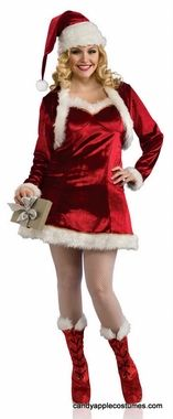 Plus Size Sexy Santa's Helper Costume - Candy Apple Costumes - SantaCon Costumes