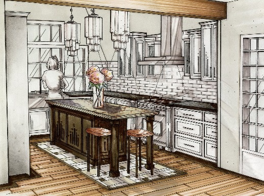 17 best images about interior design renderings on for 3d drawing kitchen