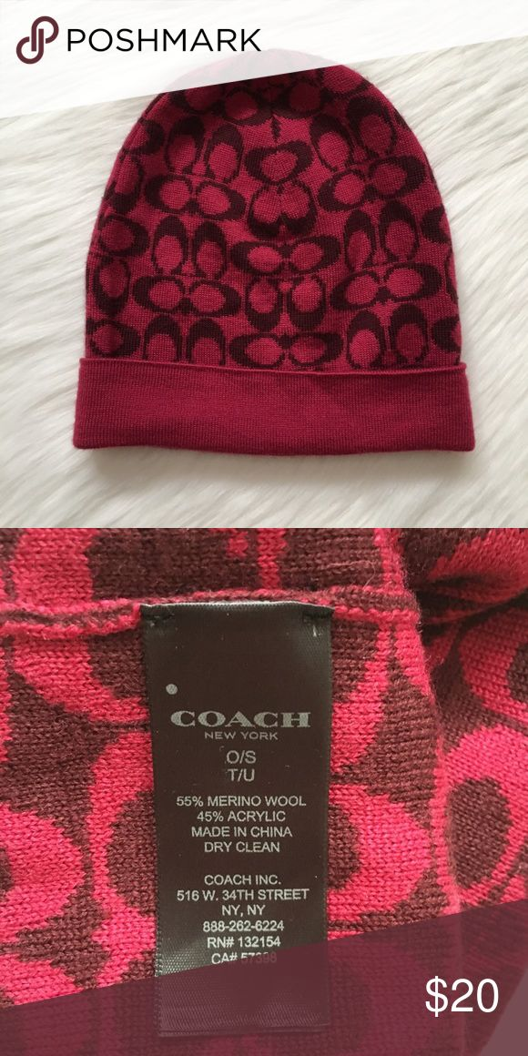 NWOT Coach Women's Hat NWOT Coach Women's Hat. This hat is brand new and has never been worn. It is in PERFECT condition. One size fits all. This Coach hat is so pretty. It would look amazing with any outfit! You'd love it! Make an offer if you're interested. Coach Accessories Hats