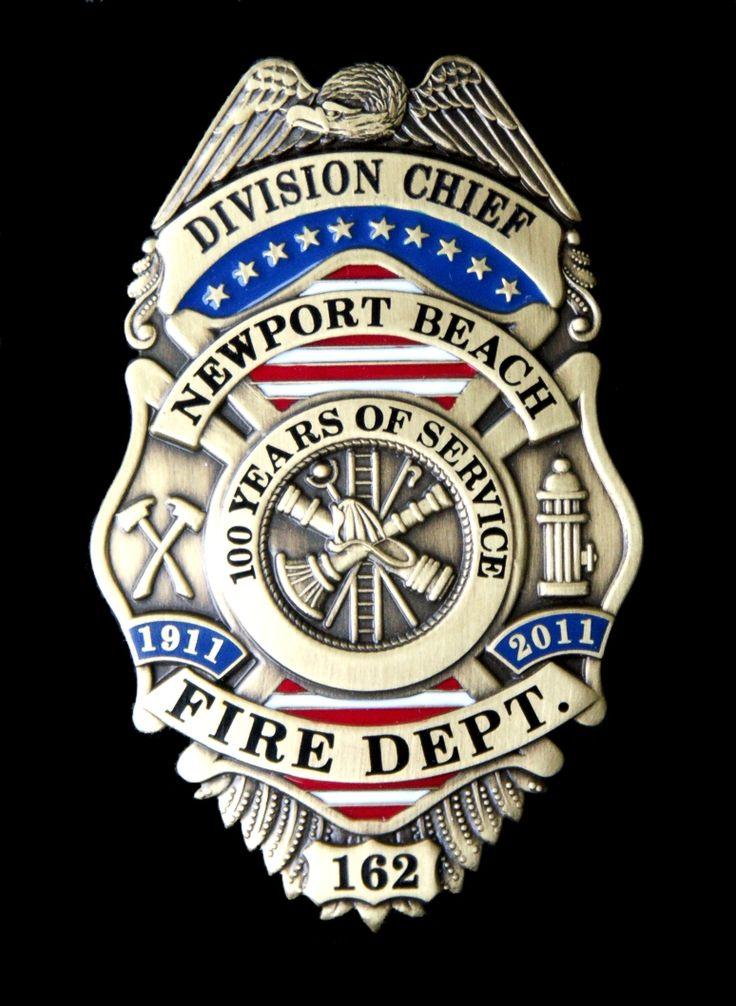 Newport Beach Ca Fire Department Badge Fire Department