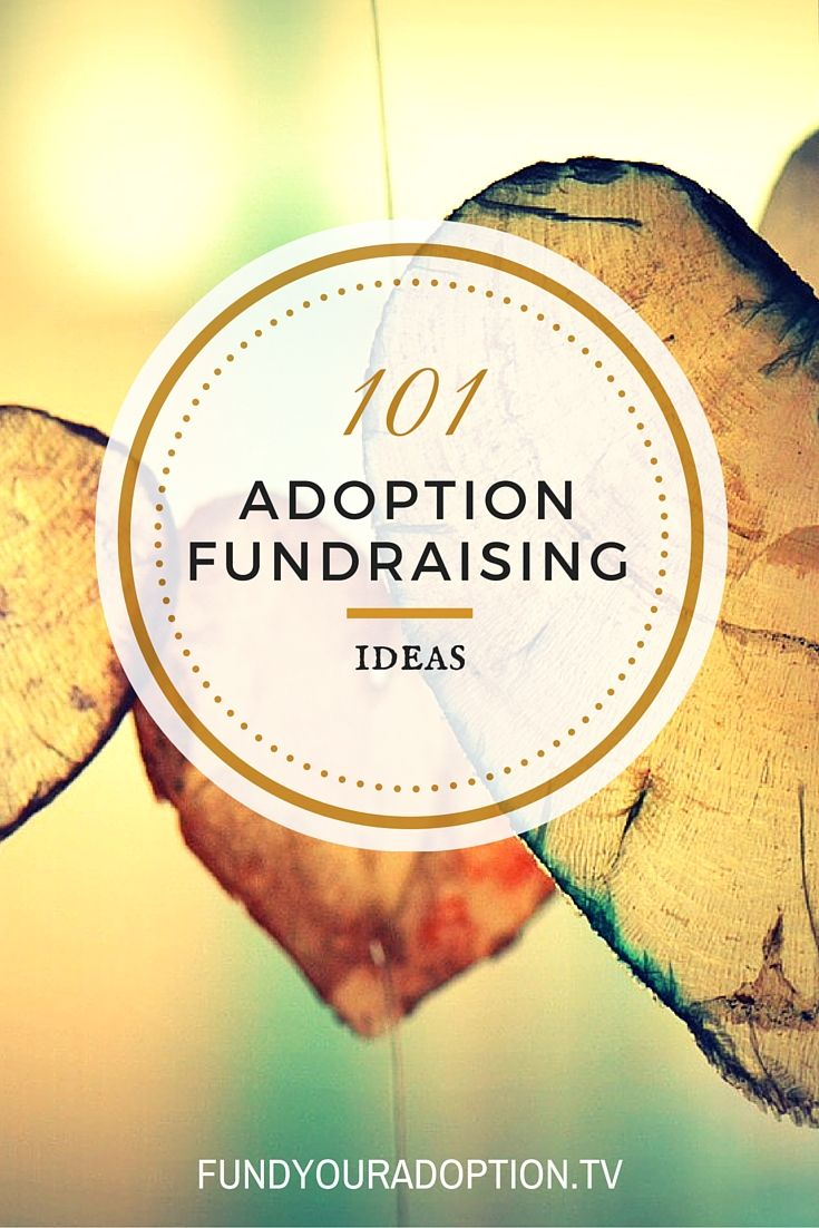 101 adoption fundraisers and money saving ideas to help you adopt debt-free!