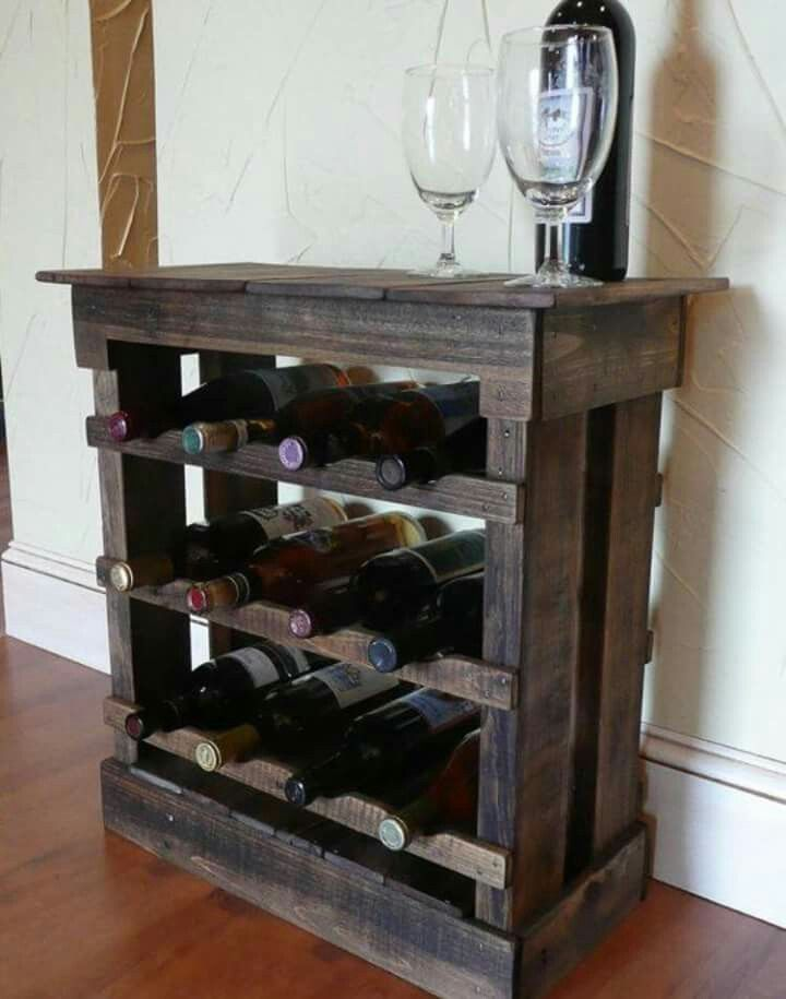 Old Pallet Turned Into Wine Rack Wine Storage Cabinets