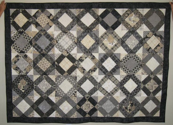 1000 images about black white gray quilts on pinterest for Black white and gray quilt patterns