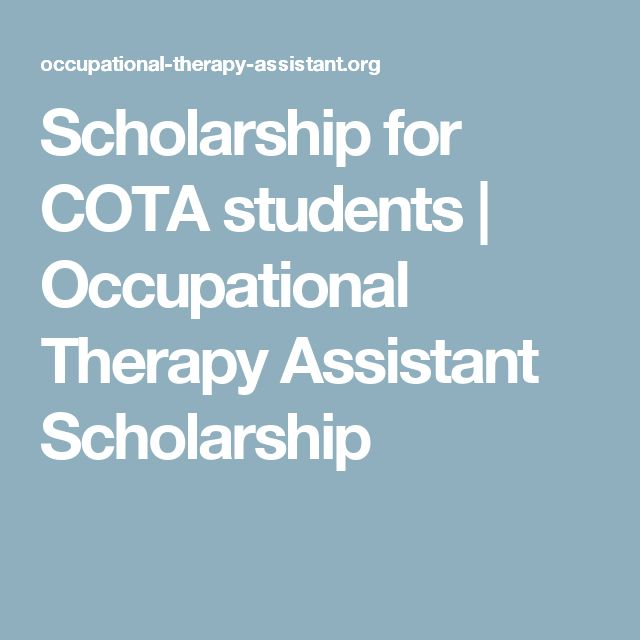 Scholarship for COTA students | Occupational Therapy Assistant Scholarship