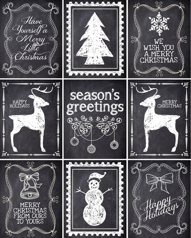Free Christmas gift labels {printables}