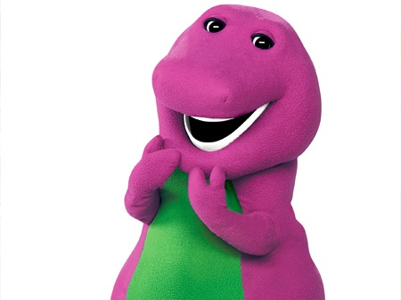 "Barney the Dinosaur - My favorite songs were, ""Oh Mr. Sun,"" and ""I Love You."" I liked his magic bag."
