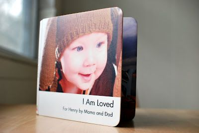 I am loved book for 1st birthday gift! The words ___ loves me with a picture of Cole and them on the right :-)