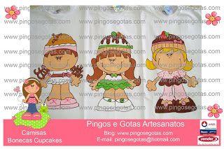 Camisas Cupcakes LANÇAMENTO - Criação Teca Moraes