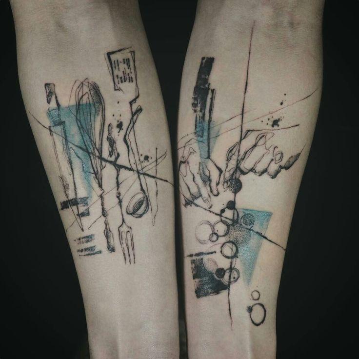 Tattoo done by: @tattooer_nadi #colourtattoo #bluetattoo