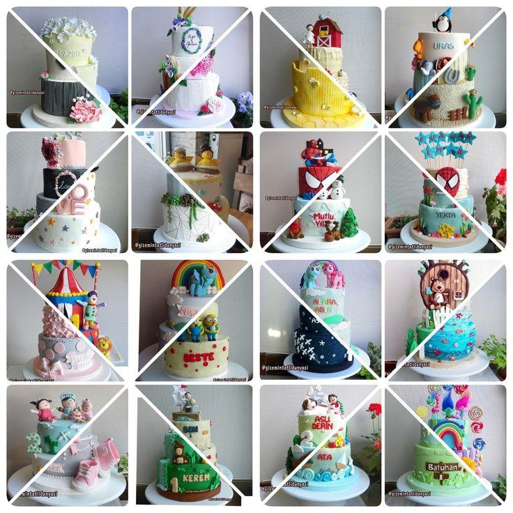 """144 Beğenme, 3 Yorum - Instagram'da Butik Pasta / Kurabiye🍪🍰 (@gizemintatlidunyasi): """"16 Görünümlü 32 Pasta🎂🍫💕#cakes #şekerhamuru"""""""