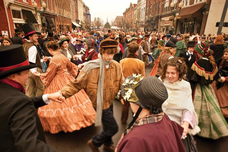Gorgeous picture of Dancers at The Dickens of a Christmas in ...