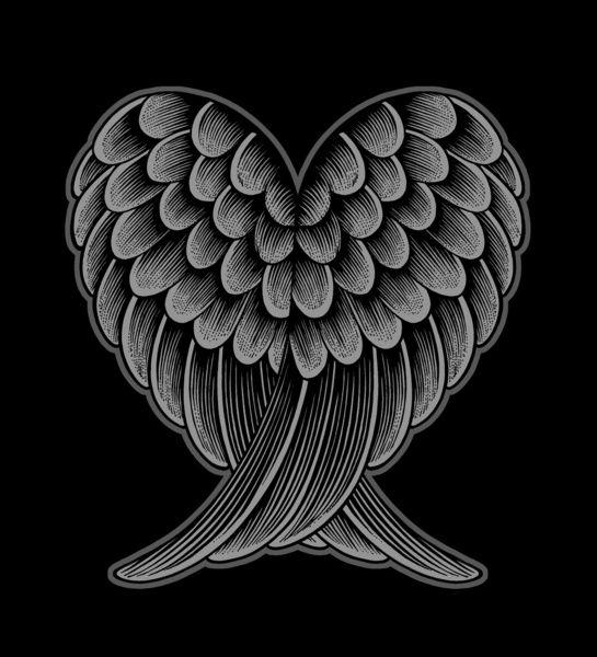Heart Wings [Reversed Version] Art Print by Rachel Caldwell | Society6