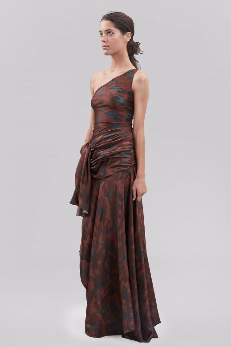 Faith Connexion asymmetric camouflage dress