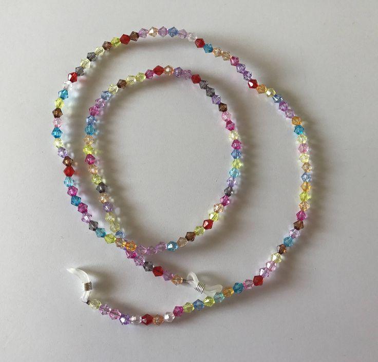 Rainbow glasses chain from CraftyChicHandmade on Etsy