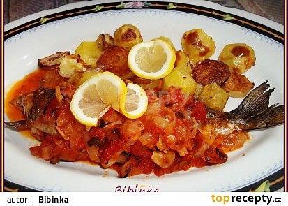 Mořský pstruh s rajčaty