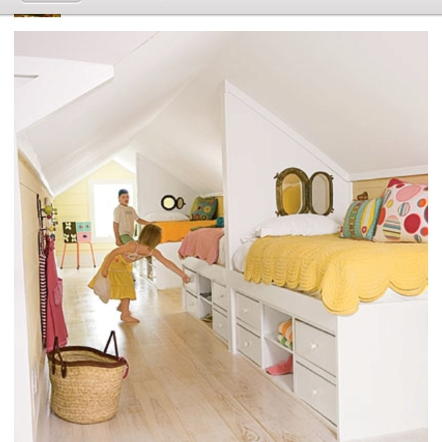 This was an attic! Sooo cool!! I need more living space with 3 kids!!! Lol
