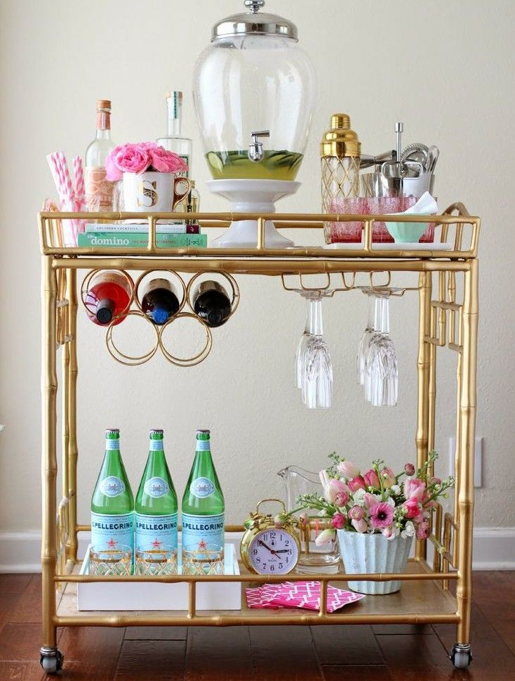 How to Style a Bar Cart for Entertaining Season - Lux & Concord ...