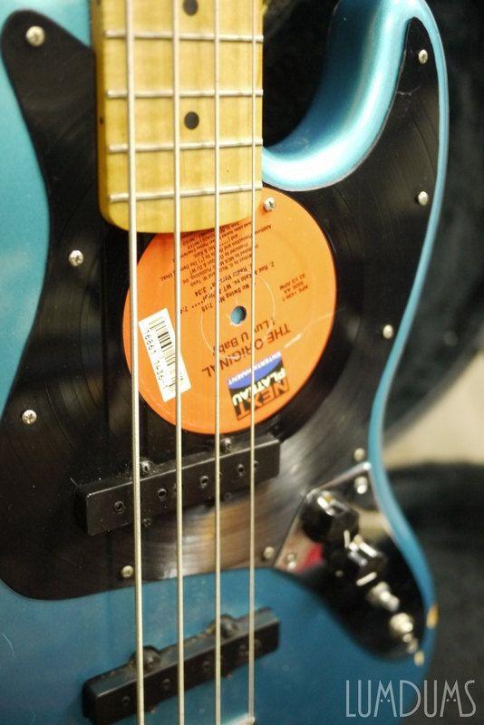 Custom Handmade Vintage Guitar Bass Guitar Vinyl Record By