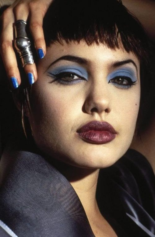 """Angelina Jolie as 'Acid Burn' in Hackers lol not really but the weirdness of it is interesting. """"90's hacker"""""""