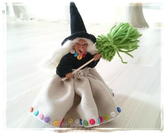 Kitchen Witch Good Luck Witch Doll Norway Kitchen Witch Etsy In 2020 Witch Doll Kitchen Witch Witch Figurines