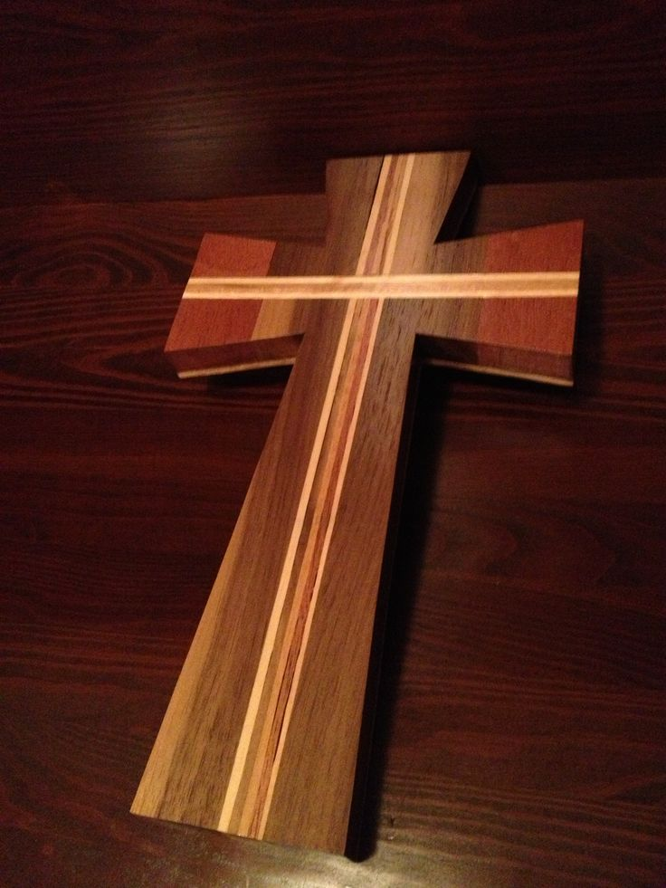 Wood Cross Made From Walnut & Mahogany