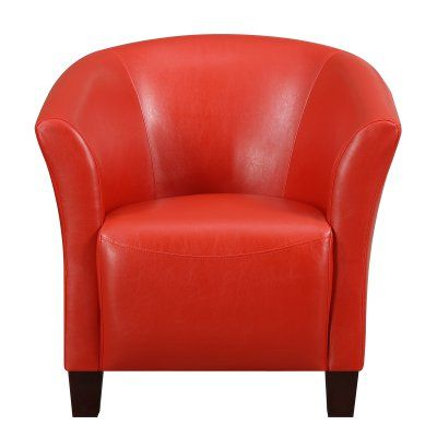 Picket House Radford Faux Leather Accent Barrel Chair Red - URT891100CA
