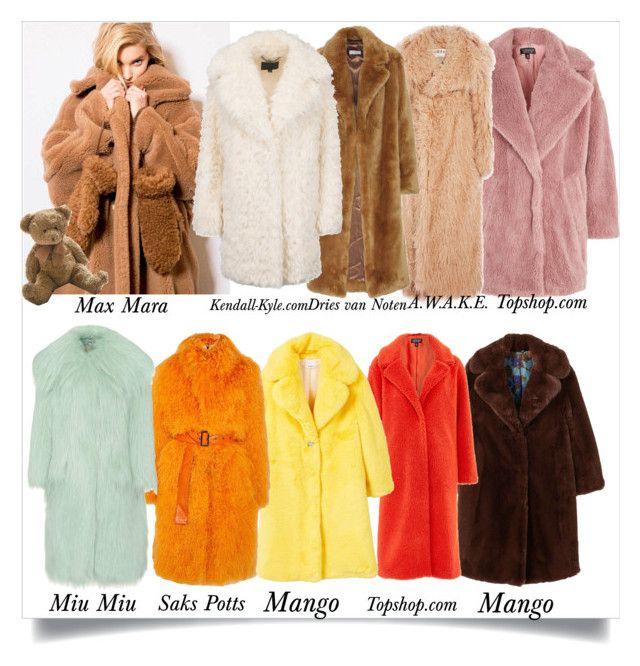 """""""Faux Fur Coats Part 1 #201"""" by lacri50enniblog on Polyvore featuring moda, MaxMara, Topshop, MANGO, A.W.A.K.E., Dries Van Noten, Saks Potts, Miu Miu e DutchCrafters"""
