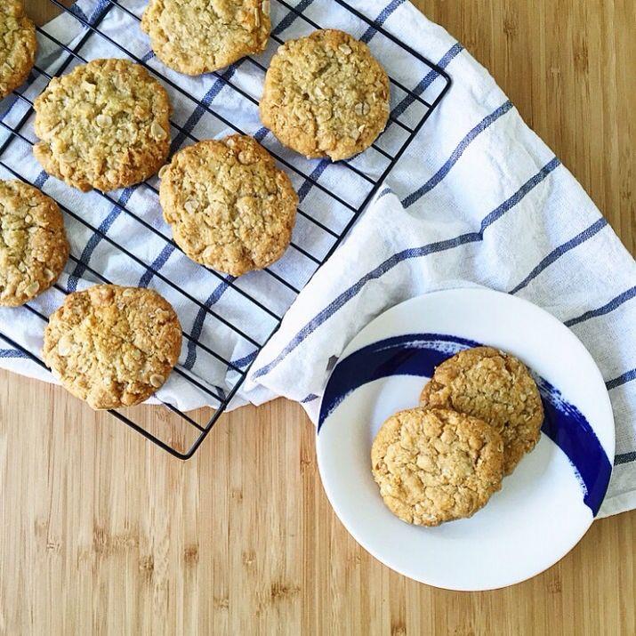 Anzac biscuits #anzac #anzacday #anzacbiscuits #oatmeal #australia
