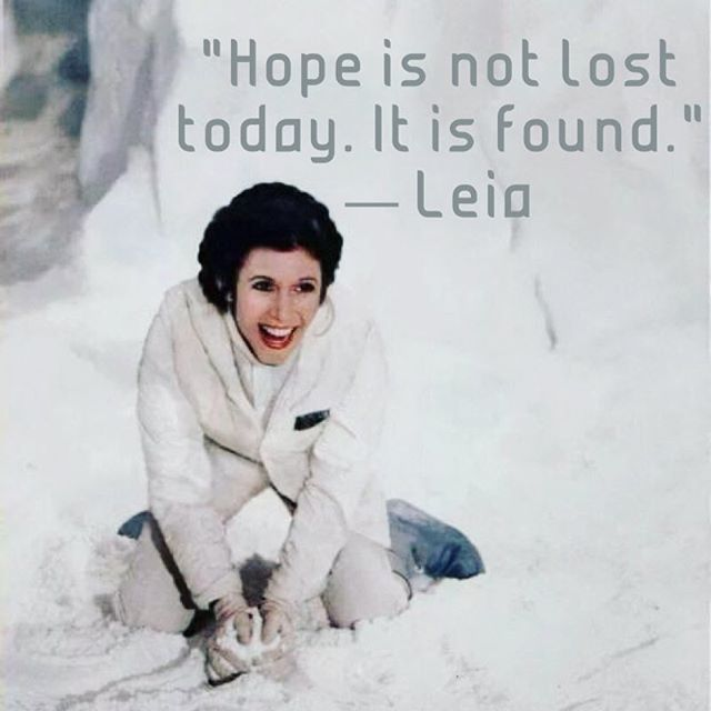 We love that Princess Leia was a teacher of hope. No matter her circumstances she never gave up on it and her firmness in her belief of what hope was rubbed off on others. #maythefourthbewithyou #hope #starwarsday