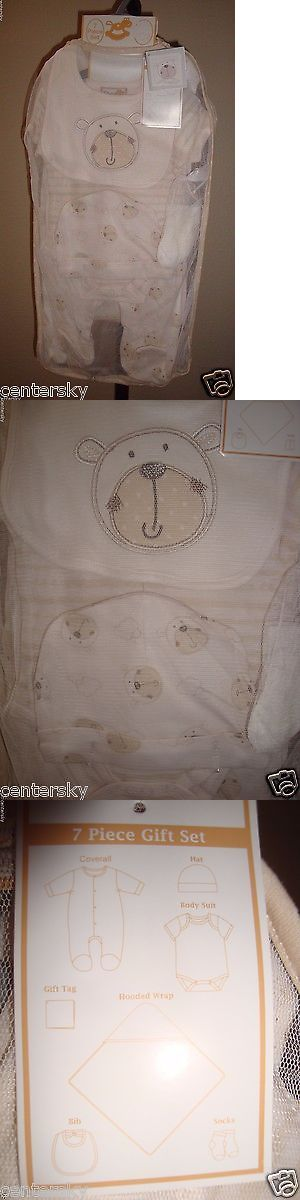 Outfits and Sets 163427: New Rock A Bye Baby 7 Piece Baby Boy Girl Gift Set Ivory Bear Theme 3-6 Months -> BUY IT NOW ONLY: $39.99 on eBay!