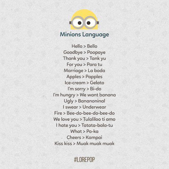 L'infographie pour tout savoir sur les Minions   Page 2 of 2   le Bonbon