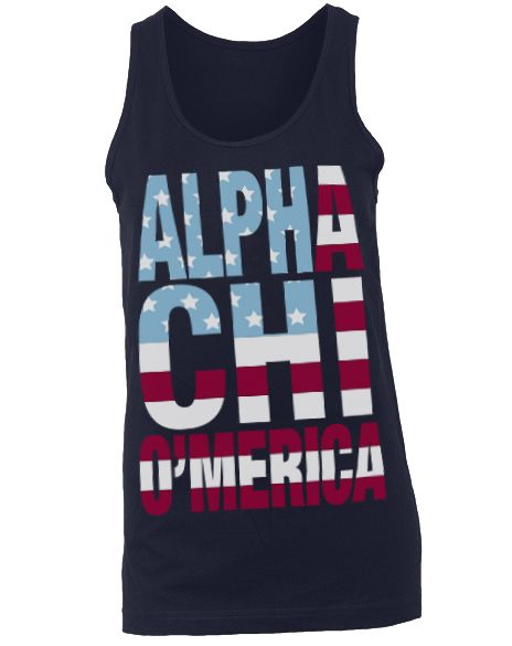 I would like this minus the alpha obviously! Chi Omega O'Merica Tank