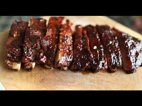 ▶ Grill to Oven Baked Spare Ribs-Recipe - YouTube