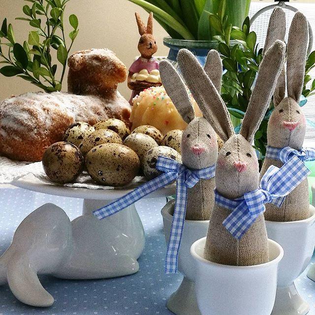 Zające, kurki, króliczki i dodatki w kolorze blue 💙💙💙 #decoracje #na #wielkanoc #2017 #handmade #recznierobione #ozdoby #króliki #tilda #szyte #zabawne #słodkie #zające