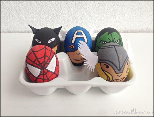 Batman, Spiderman, Hulk, Captain America and Thor Easter Eggs