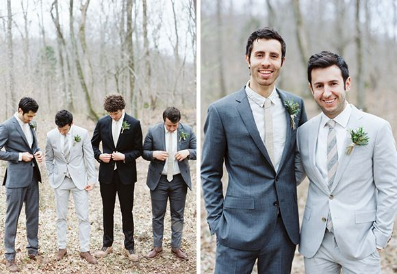 Mismatched Suited Groom & Groomsmen Top Five Grooms & Groomsmen Trends for 2014
