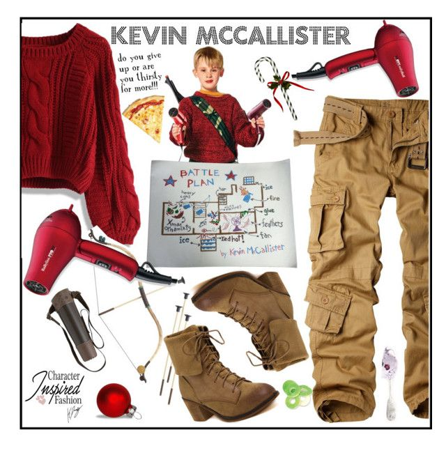 """Female Kevin McCallister Outfit: Home Alone"" by keisha-polyvore ❤ liked on Polyvore featuring Chicwish, BaByliss Pro, cosplay, homealone, polyPresents, CharacterInspiredFashion and kevinmccallister"