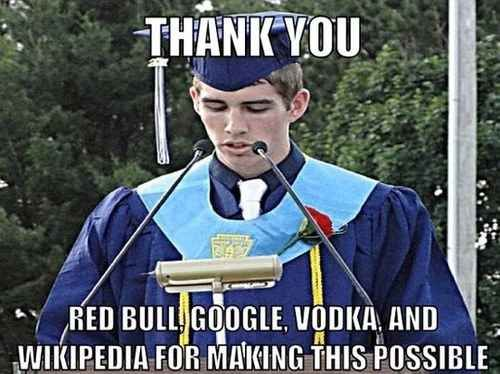 On class-speaker day:   30 Things Everyone Who Went To College Will Understand