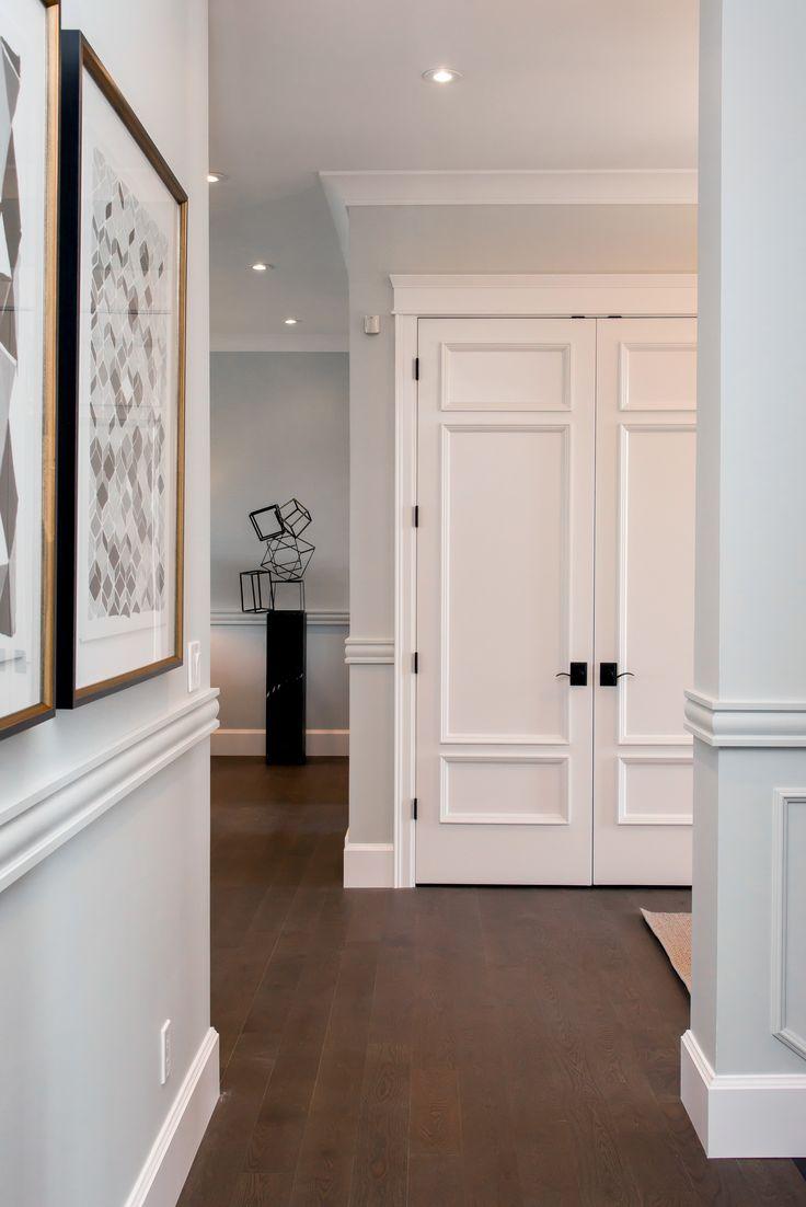 Love this look. How to install an interior door via Metrie.